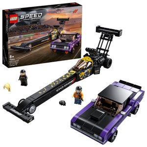 LEGO 76904 Speed Champions Mopar Dodge//SRT Dragster & 1970 Dodge Challenger Spielzeugauto, Modellauto zum selber Bauen, Rennwagen
