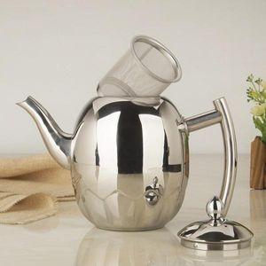 Teekanne aus rostfreiem Metall Teekanne Teekanne mit Teekanne 1,5l Silber 1,5 l