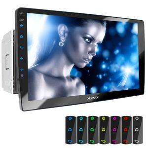 XOMAX XM-2D1006 2DIN Autoradio mit Kugellager am Monitor, USB und BLUETOOTH