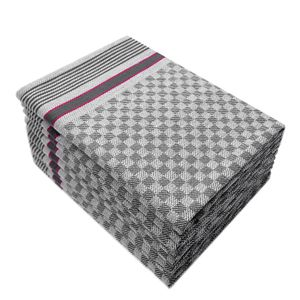 10er Pack Basic Grubentücher / Trocktücher Touchon 45x90 Grau