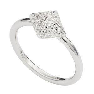 Fossil JFS00377 Damen Ring Silber Zirkonia 56 (17.8)