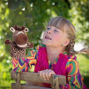 Cartoon Tiere Eltern-Kind Puzzle Plüsch Spielzeug Mund kann Marionette starten ZHI201217086BW