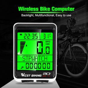 Fahrrad Drahtloser Computer Tachometer Kilometerzähler Fahrrad Wasserdichte Stoppuhr Geschwindigkeit TZZ200605662