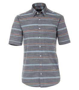 Casa Moda - Casual Fit  - Herren Freizeit 1/2-Arm-Hemd mit Button Down-Kragen (903449600), Größe:3XL, Farbe:Blau (100)