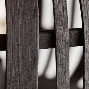 BRILLIANT WOODROW Deckenleuchte Ø 39,5 cm Metall / Bambus Holz dunkel / schwarz