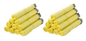 20 Rollen Gelber Sack, Gelbe Säcke 90 Liter HDPE Gelb 13 Stück pro Rolle, insgesamt 260 Stück