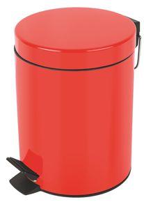"""Spirella Kosmetikeimer """"Sydney Rot"""" Mülleimer Treteimer Abfalleimer - 3 Liter – mit herausnehmbaren Inneneimer"""