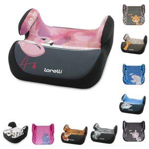 Lorelli Autositz Topo Comfort Gruppe 2/3 (15 -36 kg) von 4 bis 12 Jahre geeignet rosa grau