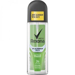 Rexona Deo Spray Active Fresh 6 x 75ml, Männer, Deodorant, Zerstäuber 24 h, normale Haut