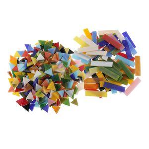 370 Stü Rechteck Dreiecksform Glasmosaik Fliesen Glas Für Mosaikherstellung Kunsthandwerk Sortierte Farbe