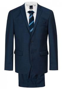 Daniel Hechter - Modern Fit - Herren Baukasten Anzug aus reiner Schurwolle in blau oder schwarz, meliert (7993), Größe:52, Farbe:Blau (62)