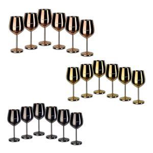 Echtwerk Weinkelche aus Edelstahl 6tlg Edition, Farbe:Schwarz