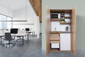 respekta Schrankküche Küche Miniküche Küchenzeile Büro Küchenblock Eiche Sägerau
