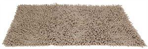 Badezimmer Teppich Hochflor creme 45x75 cm Badematte Badteppich Badvorleger