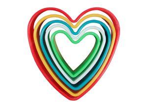 Keksausstecher Herz Ausstechform, wählen:AF-02 Herz rot