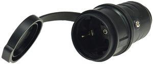 ChiliTec Schutzkontakt-Gummikupplung für Außen Schutzkappe, 250V/16A, IP44
