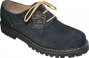 Trachtenschuhe Haferlschuhe echtem Leder Oktoberfest Schuhe dunkelblau, Schuhgröße:42