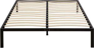 i-flair Metallbett 160x200 cm i-Base, stabiles Bettgestell mit Lattenrost