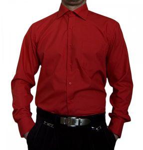Designer Herren Hemd bügelleicht klassischer Kragen K11 Herrenhemd Kentkragen viele Farben, Größe klassische Hemden:42 / L, Farbe Klassische Hemden:Rot