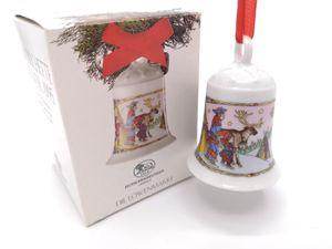 Porzellanglocke Weihnachtsglocke 1995 - Hutschenreuther - in