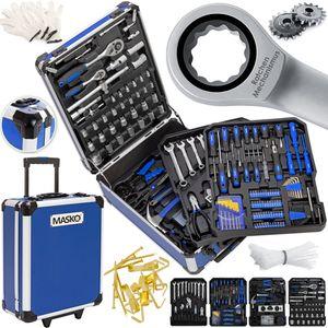 Masko® 969 tlg Werkzeugkoffer Werkzeugkasten Werkzeugkiste Werkzeug Trolley ✔ Profi ✔ 949 Teile ✔ Qualitätswerkzeug , Farbe:Blau
