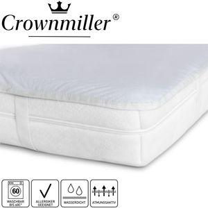 Crownmiller Matratzen-Auflage-Schoner-Schutz mit Nässeschutz und 4 Eckgummis, Größe:90x200 cm