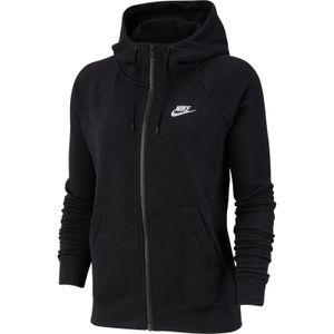 Nike W Nsw Essntl Hoodie Fz Flc Black/White M