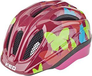 KED Meggy II Trend Helm Kinder butterly/bordeaux Kopfumfang S/M   49-55cm