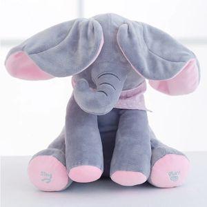 Elefant Musikspielzeug, Komfort-Plüschtier mit Musik für Babys