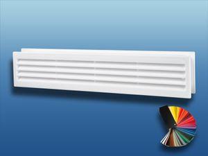 Türlüftungsgitter MV 430/2 doppelseitig : weiß Farbe: weiß