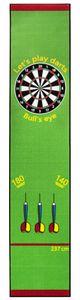 Dart Teppich Matte Steeldart Dartpfeile Dartboard Zubehör Dartteppich Oche Darts Abwurflinie Schutz Gummi Boden Dartscheibe Target  290 x 60 cm Kingpower