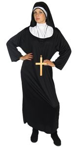 Nonnen Kostüm für Damen Gr. S-XXXXL, Größe:XXXL
