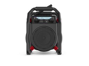PerfectPro Baustellenradio UBOX400R, DAB+ und UKW-Empfang, Bluetooth, AUX, Wiederaufladbar, Stoßfest, IP64, UB400R2