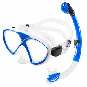 Tauchermaske »SnorkelDiver« Schwimm-Maske / Swim Mask / Scuba Mask / Schnorchelmaske / Die perfekte Tauchmaske für das Schorcheln / Schnorchelset für Erwachsene und Jugendliche / navyblau