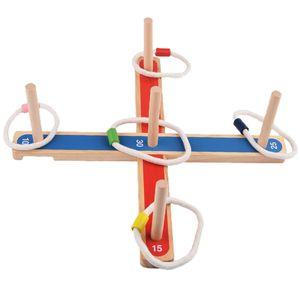 Kinder Erwachsene Ringwurfspiel Outdoor Holz Spielzeug Wurfspiel Wurfringe Gut für die Auge-Hand-Koordination