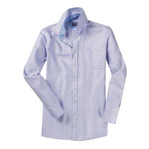 XXL CasaModa Twill-Hemd extra langer Arm blau-lila , Kragenweite:52