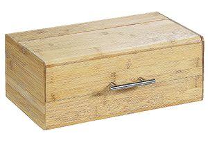 Kesper Brotkasten mit Klappdeckel, 36 x 20 x 14 cm, aus Bambus, , Brotbox und Griff, Aufbewahrungsbox, naturfarben