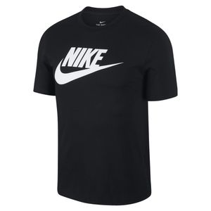 Nike Herren Sport Fitness T-Shirt NIKE NSW ICON TEE schwarz , Größe:L