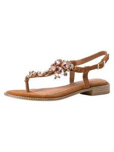 Marco Tozzi BY GUIDO MARIA KRETSCHMER Damen Sandale braun 2-2-88100-26 F-Weite Größe: 38 EU