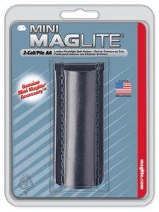 MAGLITE Zubehör AM2A026E Leder-Gürtelhalter für Mini Maglite AA