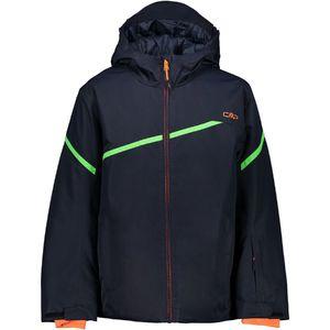 Cmp Boy Jacket Fix Hood N950 Black Blue 140