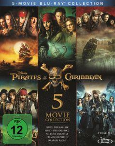 Blu-ray Box Pirates of the Caribbean 1 - 5