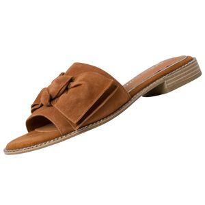 Marco Tozzi Damen  Sandalen by GMK Guido Maria Kretschmar 2-87100-26 Braun 305 Cognac Leder mit Feel+Leather & Leather Sock, Groesse:37 EU