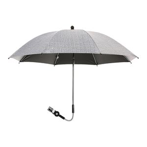 Großer abnehmbarer Regenschirm Sonnenschirm Sonnenschirm Regenverdeckbezug für Kinderwagen Rollstuhl Kinderwagen Schutz UV-Strahlen Regenschirm Farbe Grau