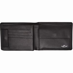 Golden Head Polo RFID Protect Billfold Coin Wallet Black