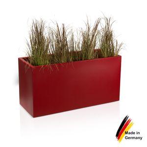 Pflanztrog VISIO 50 Kunststoff Blumenkübel, 100x40x50 cm (L/B/H), Farbe: rot matt