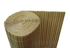 PVC SICHTSCHUTZMATTE 36 Varianten, Größen:90 x 1000 cm, Farbauswahl:bambus, Form:flach