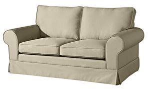 Max Winzer Hillary Sofa 2-Sitzer inkl. Zierkissen - Farbe: beige - Maße: 172 cm x 89 cm x 85 cm; 2890-2100-1645202-KUN