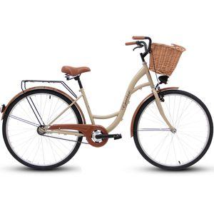 Goetze 28 Zoll Eco Fahrrad Damenfahrrad Herrenfahrrad Citybike Cappucino Weidenkorb
