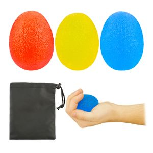 relaxdays Eiförmige Griffbälle 3er Set